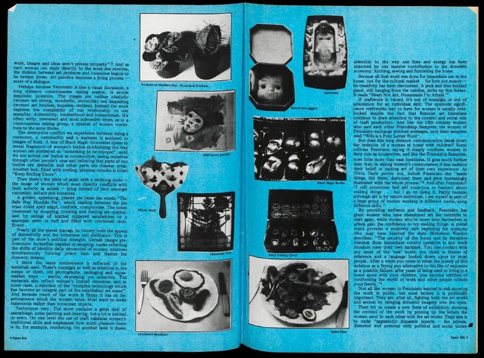 Page spread from Spare Rib, no.60, July 1977, pp.6–7, illustrated with unattributed artworks