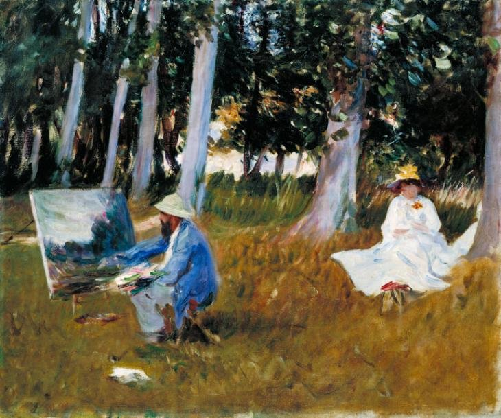 John Singer Sargent, Claude Monet Painting on the Edge of a Wood ?1885