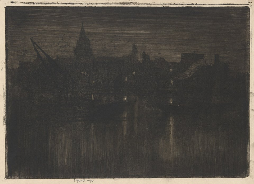 Joseph Pennell, St. Paul's from the River 1894