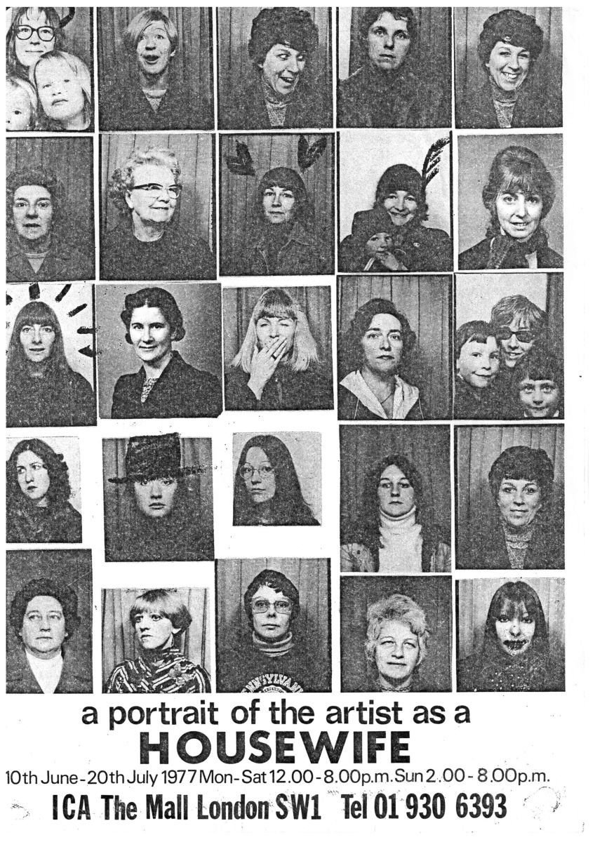 Feministo: Postal Art Event, 'A Portrait of the Artist as a Housewife', exhibition poster, 1977