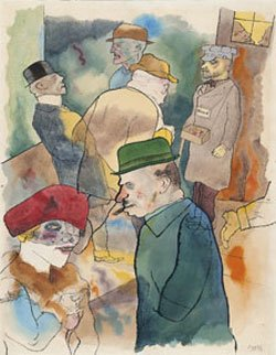 George Grosz Twilight 1923