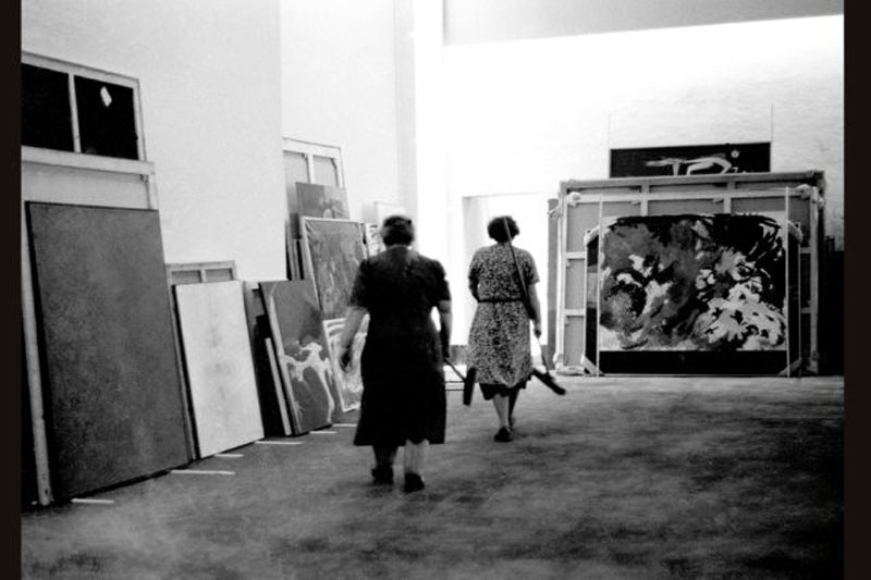 Hans Haacke Photographic Notes, documenta 2, Cleaning Women (Hans Haacke) 1959