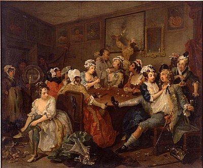 William Hogarth The Rake's Progress: 3. The Orgy 1733
