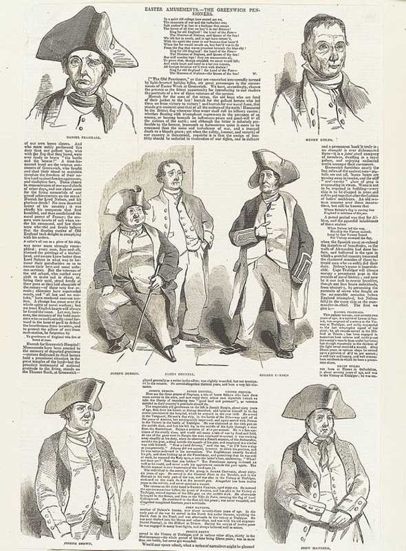 Easter Amusements – The Greenwich Pensioners from the Illustrated London News