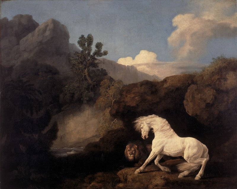 George Stubbs White Horse Frightened by a Lion 1770