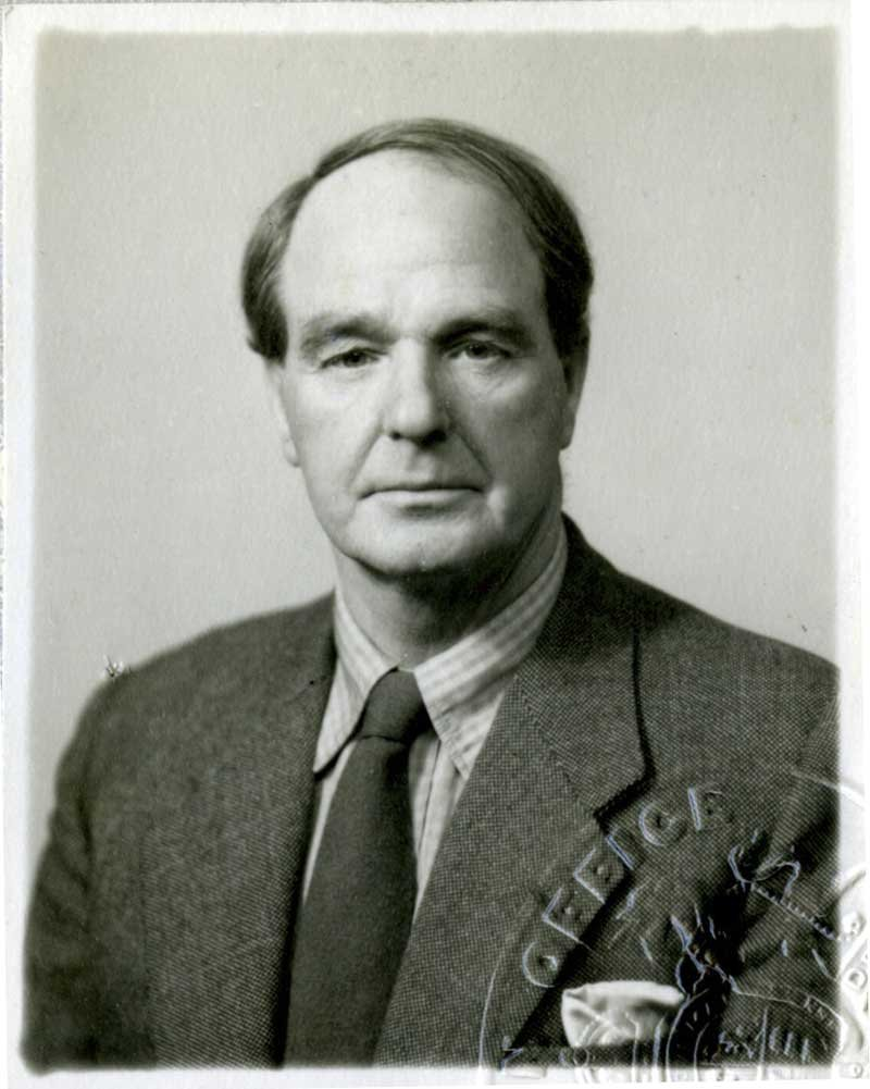 Passport photograph of Henry Moore, issued in 1955