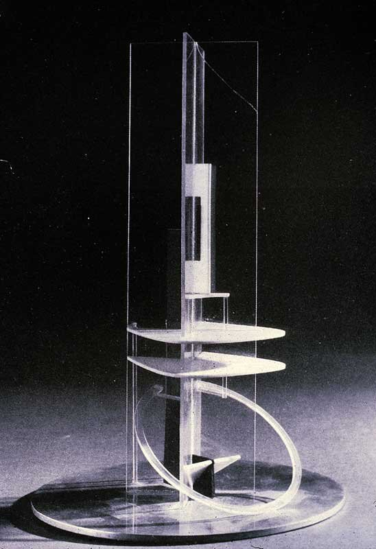 Naum Gabo Column conceived c.1921, this version before 1928, rebuilt 1938