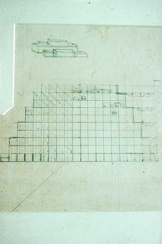 Naum Gabo Design for a Multi-storey Car Park 1925