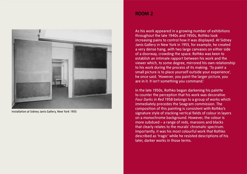 Rothko; the late series, interpretation sample pages