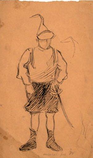 Jacques Villon Marcel in Soldier's Disguise c.1894–5