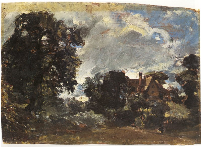 John Constable Church Farm, Langham c.1810–15