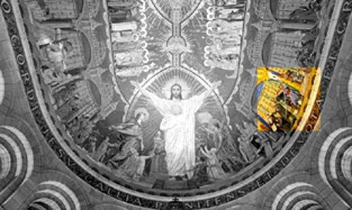 Luc Olivier Merson Ceiling Mosaic 1912 Basilique du Sacré Coeur, Paris