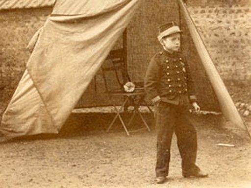 Unknown photographer Marcel Duchamp in uniform 1895