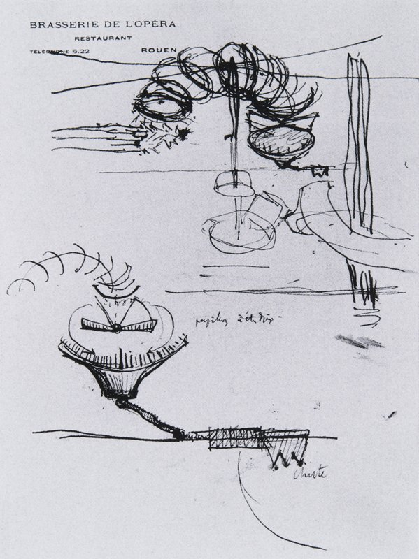 Marcel Duchamp Sieves and Detail of the Butterfly Pump 1914