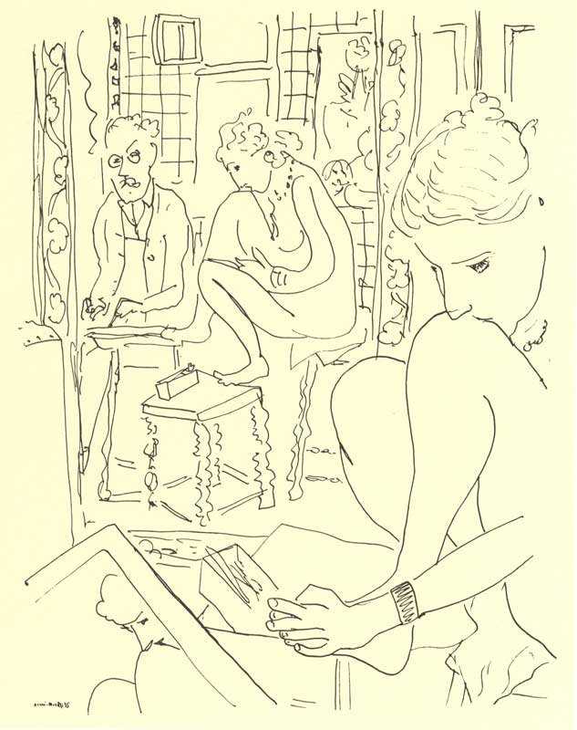Henri Matisse Artist and Model Reflected in a Mirror 1935