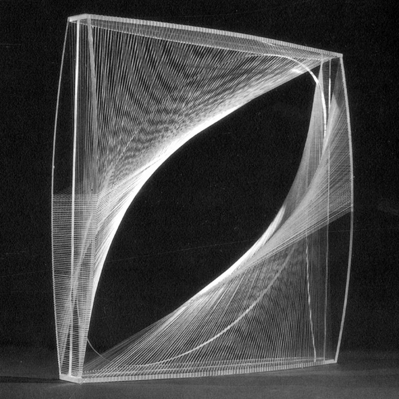 Naum Gabo Linear Construction in Space No.1 (conceived 1942, this version probably executed 1960s)