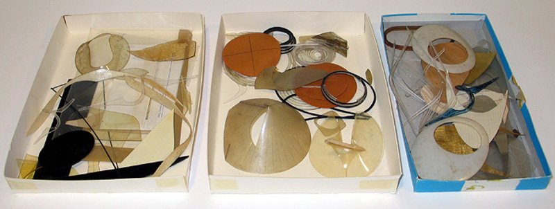 A selection of plastics and templates from the Naum Gabo collection