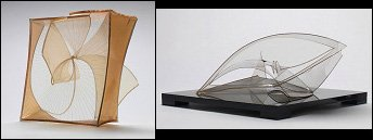 Naum Gabo Construction in Space 'Crystal' 1937 and Spiral Theme 1941