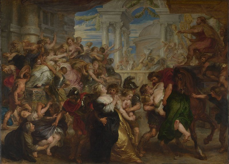Peter Paul Rubens The Rape of the Sabine Women c.1635–40