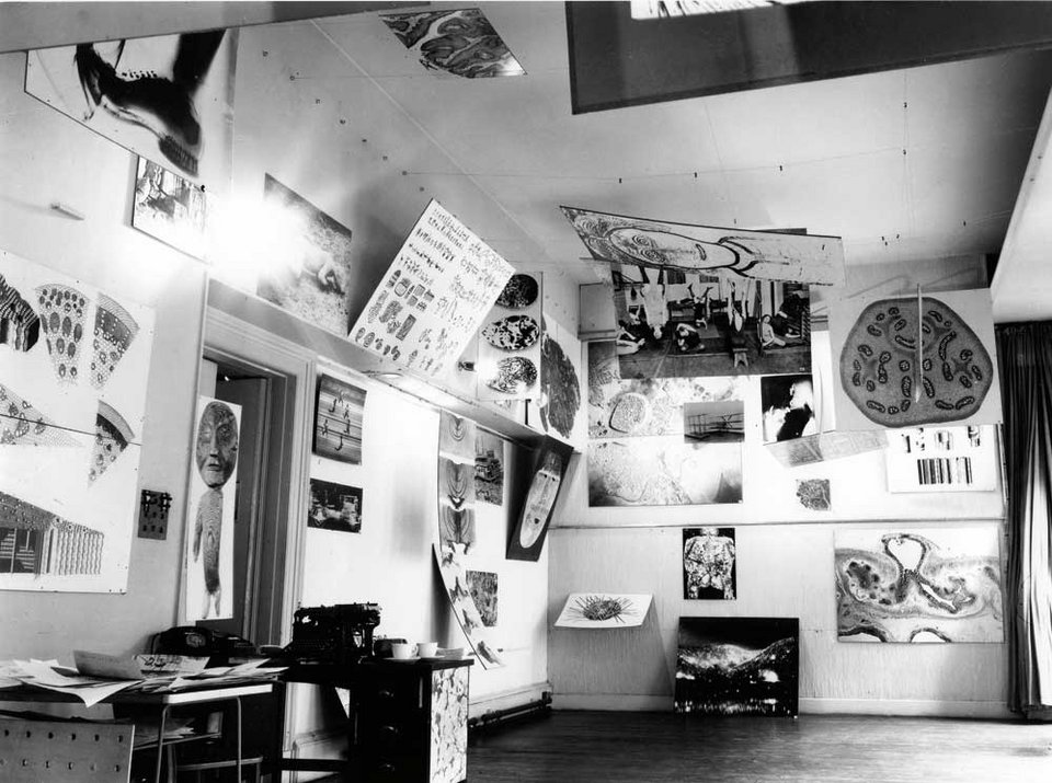 Installation view of Parallel of Life and Art, Institute of Contemporary Arts, London 1953