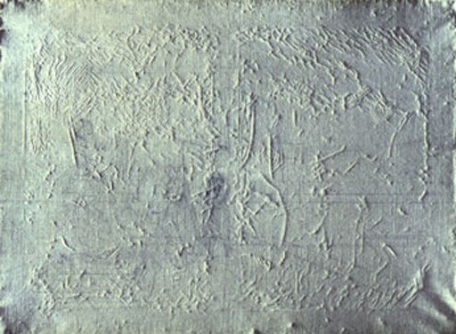 A 150 year-old primed canvas which has never been painted displays all the basic deterioration characteristics of a finished painting on a stretched canvas