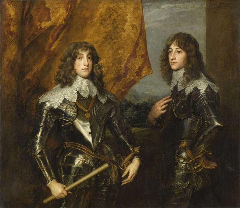 Anthony Van Dyck Prince Charles Louis, Elector Palatine and Prince Rupert 1637