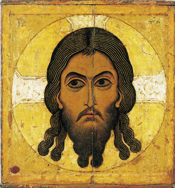 Saviour-Not-Made-By-Human-Hands Russian icon from Novgorod c.11th century