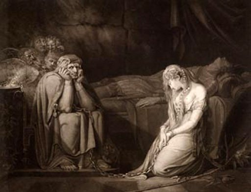 John Raphael Smith after Fuseli Belisane and Percival under the Enchantment of Urma 1873