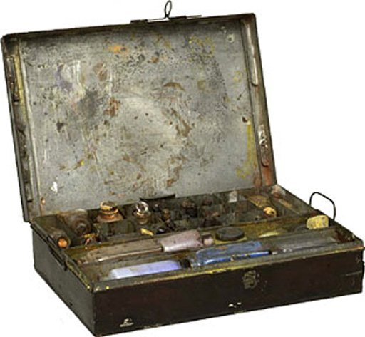 Turner's paintbox, found in his studio after his death in 1851