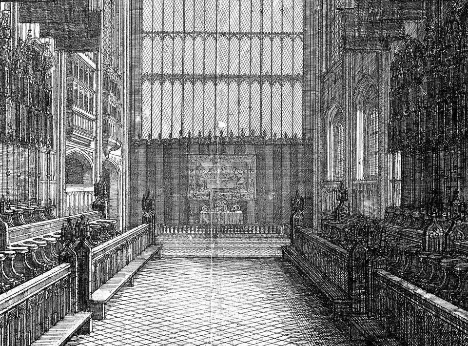 Wenceslaus Hollar Interior of St George's Chapel, Windsor 1663