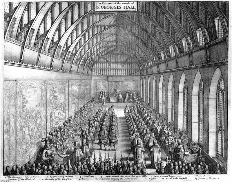 Wenceslaus Hollar Banquet in St George's Hall, Windsor c.1663–72