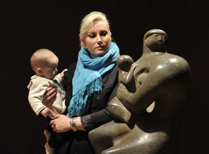 Woman and baby in Henry Moore exhibition, Tate Britain, Spring 2010