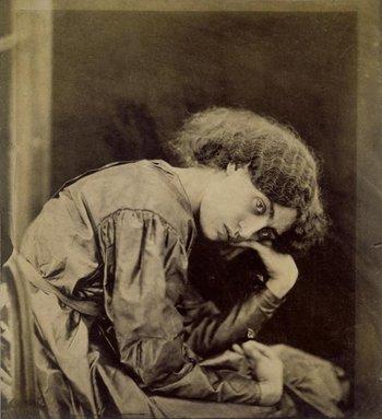 John R. Parsons Jane Morris, posed by Rossetti 1865