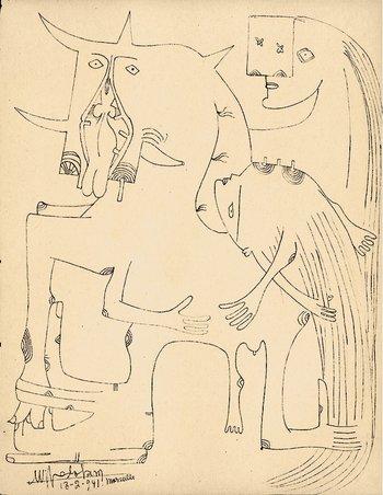 Image of Wifredo Lam's Marseille Notebooks Carnets de Marseille 1941