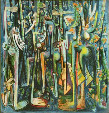 Image of Wifredo Lam's painting The Jungle 1943