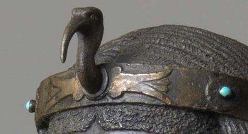 Edward Onslow Ford The Singer (detail of bird on headdress)