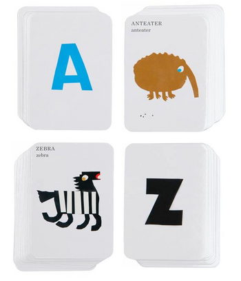 Anteater to Zebra card game