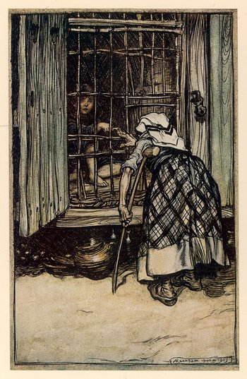 Arthur Rackham illustration from the English edition of Grimm's Fairy Tales, published in 1909