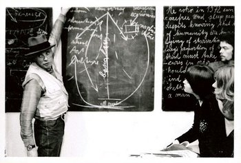 Joseph Beuys performing Information Action, Tate Gallery, 26 February 1972