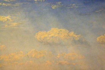 John Brett, The British Channel Seen from the Dorsetshire Cliffs 1871. Detail of sky and clouds