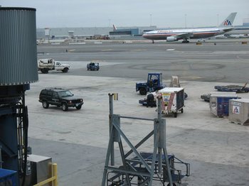 Loading area at Puerto Rico Airport.