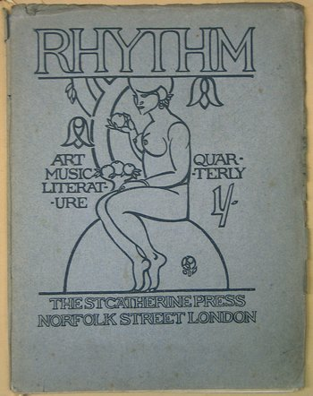 Cover of Rhythm 1912 co-funded by Michael Sadler and to which his son contributed