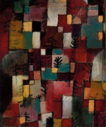 Paul Klee Redgreen and Violet-Yellow Rhythms