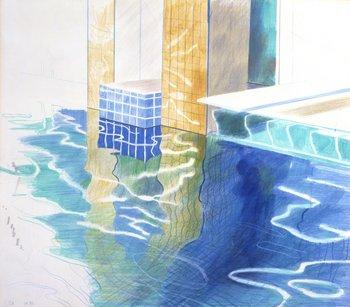 David Hockney, Study of Water, Phoenix Arizona, 1976