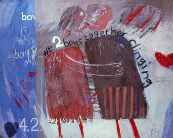 David Hockney, We Two Boys Together Clinging, 1961