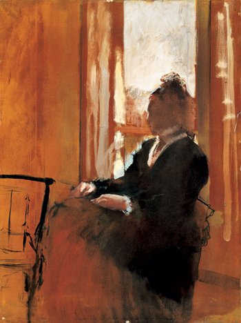 Edgar Degas Woman at a Window 1871-2 Oil on paper