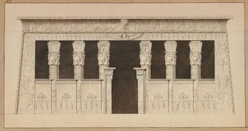 Dominique-Vivant Denon and Louis-Pierre Baltard The Temple at Dendera 1802, from Voyage dans la Basse et la Hauté Egypte, vol.2,