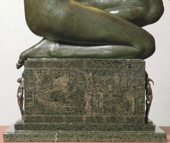 Edward Onslow Ford Applause 1893 (detail of thigh and plinth)
