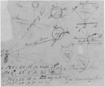 John Constable Rainbow diagram c.1832–6, recto of sheet 'A'