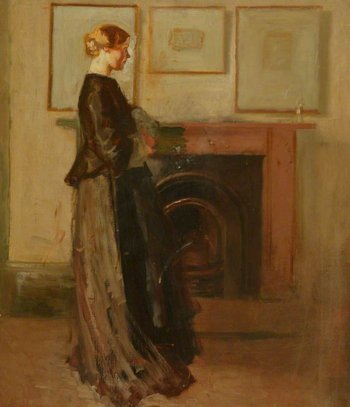 William Rothenstein Alice by the Fireside c.1905